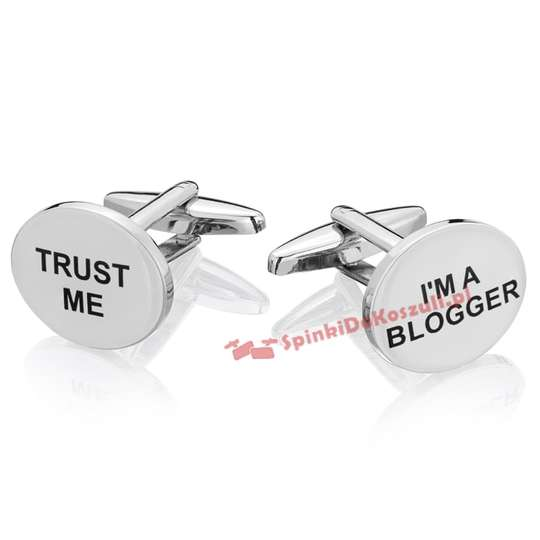 Spinki do mankietów X2 Trust me I'am Blogger BOCO066